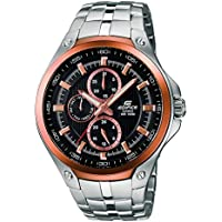 Casio Ediface Multi Dial Partial Ion Plated Stainless Steel Mens Watch