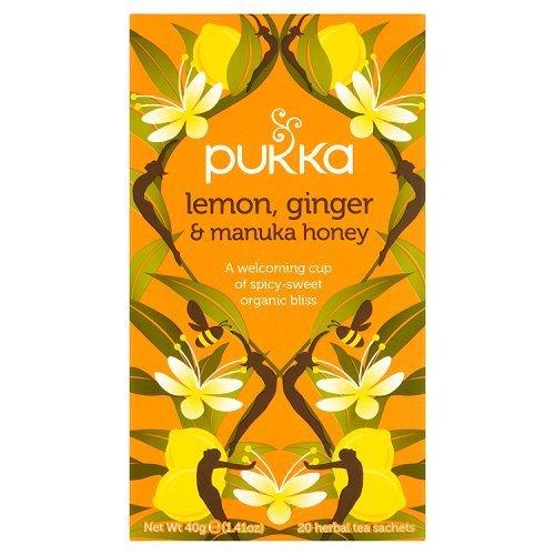 (4er BUNDLE)| Pukka Herbs - Lemon Ginger Manuka Honey Tea -20 sachet