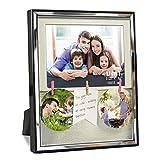 Umi. Essentials Cornice  15 x 10 cm con Passepartout per Foto di Famiglia da Parete e Tavolo con Mollette, Pannello in Vetro