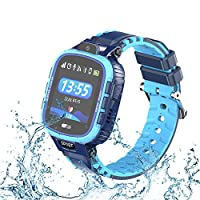 9Tong Waterproof Camera Kids Smart Watch Touch Screen GPS Kid Tracker Watch SOS Anti-Lost Child Watch Phone for iOS and Andriod Smartphone