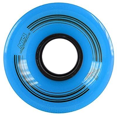 Nils Extreme Skateboard Räder Pennyboard Fishboard # Freizeit Sport Kautschuk blau 60x45 MM