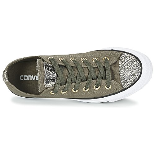 Converse All Star Ox Femme Baskets Mode Gris Grey