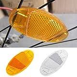 Yunso 1 Paar Starkreflektierende Speichen-Reflektor