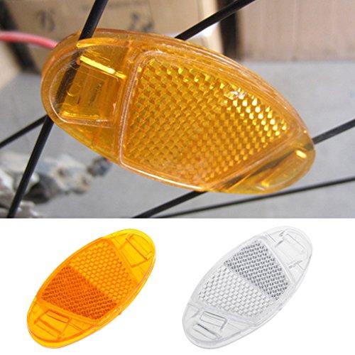 Yunso 1 Paar Starkreflektierende Speichen-Reflektor/Katzenaugen-Reflektoren/Fahrrad-Speichen-Reflektoren (Weiß)