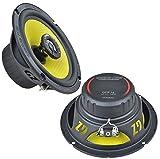 Ground Zero Lautsprecher GZTF16 260 Watt 16,5cm Koax inkl Einbauset für VW Golf IV Variant 10/1997-10/2003