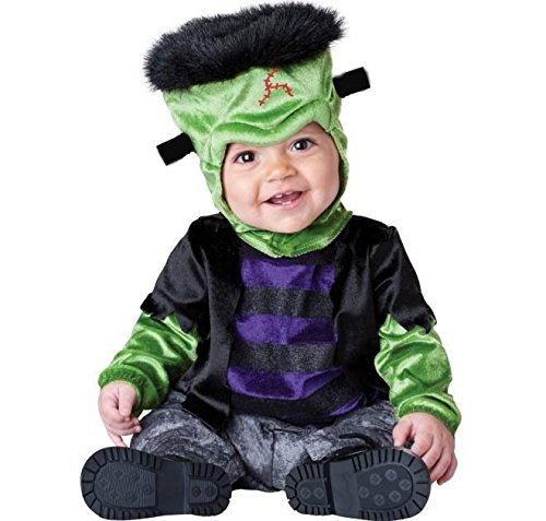 ASVP Shop NEW BABY Jungen Mädchen Kleinkinder Animal Halloween Xmas Party Kostüm Jumpsuit Gr. 12-18 Monate, Monster-Boo Frankenstein