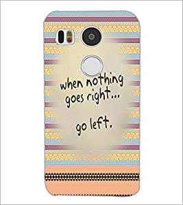 PrintDhaba Quote D-2950 Back Case Cover for LG NEXUS 5X (Multi-Coloured)