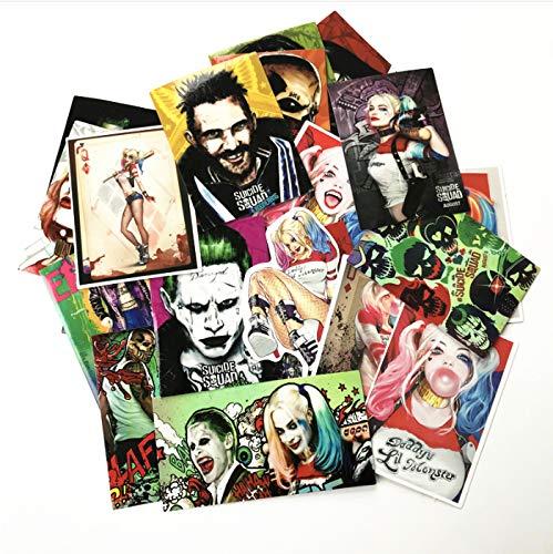 YLGG American Movie Selbstmordkommando Harley Quinn Coole Aufkleber Für Autogepäck Pad Ps4 Skateboard Laptop Aufkleber Aufkleber 27 STK