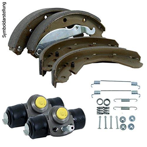 Bremsbacken + 2 Radbremszylinder + Zubehör hinten