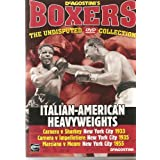 BOXING - ITALIAN-AMERICAN HEAVYWEIGHTS - CARNERA v SHARKEY NEW YORK CITY 1933, CARNERA v IMPELLETIERE NEW YORK CITY 1935, MARCIANO v MOORE NEW YORK CITY 1955 - VERY COLLECTABLE NOWDAYS AND BECOMING HARD TO FIND - NEW & FACTORY SEALED - VERY RARE
