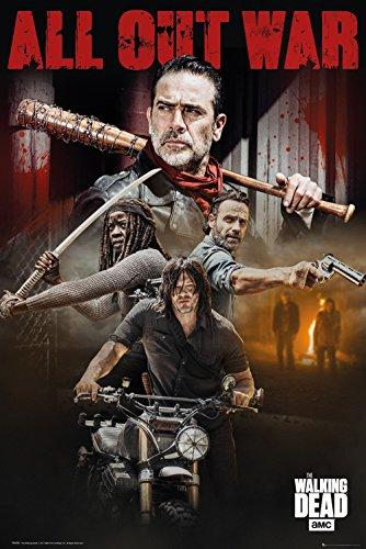 Unbekannt The Walking Dead Poster Season 8 Collage, Holz, Mehrfarbig, 65 x 3.5 x 3.5 cm