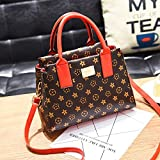 XIAOXINYUAN Frauen Taschen Classic Messenger Bag Schultertasche Damen Druck Handtasche Rot