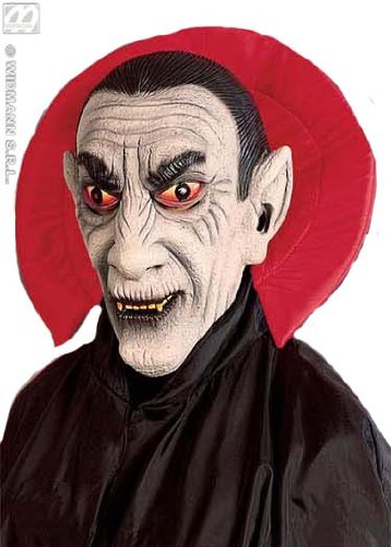 Vampir Maske Umhang+ Kragen Kostüm Halloween Vampir Halloween-maske