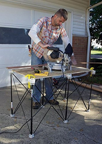 Centipede Sawhorse Compact Portable Table Support Expands From 6 By 9 Inches to 2 By 4 Foot! by Centipede