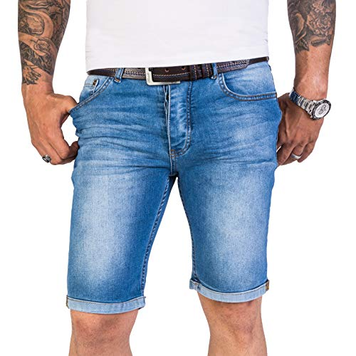 Denim Baumwolle Shorts (Rock Creek Herren Shorts Jeansshorts Denim Short Kurze Hose Herrenshorts Jeans Sommer Hose Stretch Bermuda Hose Blau RC-2211 Longliveblue W31)