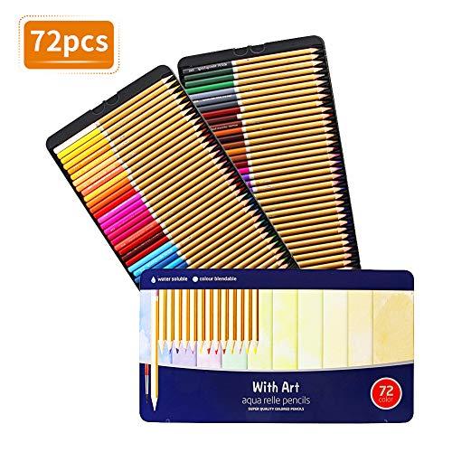 TOPERSUN 72 Buntstifte einzigartige Farben Farbstifte Aquarellstifte für Künstler Erwachsene und Kinder