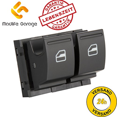 Madlife Garage 1K3959857A Fensterheber Schaltelement Fensterheberschaltelement Schalter Vorne Links