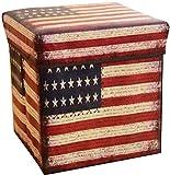 Faltbarer Sitzhocker Aufbewahrungs-Box Stoff und Pappe Faltbox Ordnungsbox Deckel Box