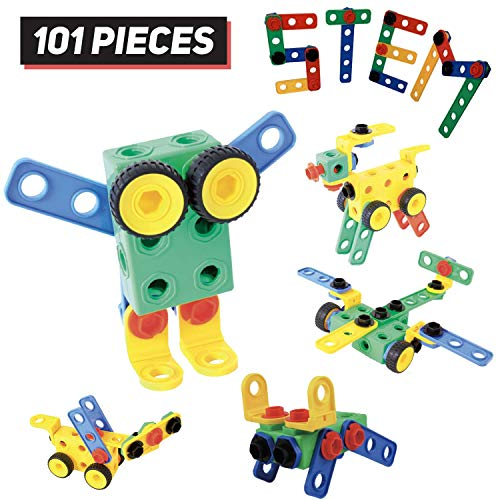 Bolt Builders - STEM Educational Toys for Boys and Girls - Construction Engineering Building Toy for Kids - 3 4 5 6 7 8 9 10 + Year Old Kids Will Love Learning Whilst Making Models - Certified Safe