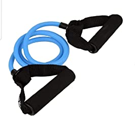 Virdi Resistance Tube, Toning Tube with Foam Handles, Door Anchor for Resistance Training, Gym Workouts, Home Workout, Physical Therapy, Pilates Training for Men and Women,