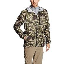 Columbia Men's Flash Forward Windbreaker Print jacket - Chaqueta para hombre, color verde (commando camo), talla L