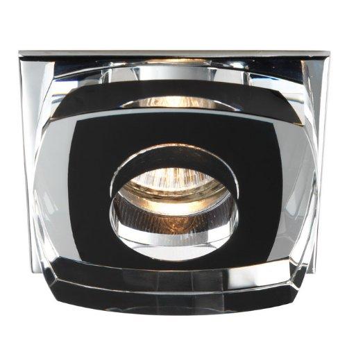 Cristal Record Avalio Einbauspot, quadratisch, Glas, Schwarz
