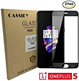 Oneplus 5 Tempered Glass Pack of 2 , CASSIEY Edge to Edge Full Coverage 2.5D Tempered Glass Screen Protector Guard for Oneplus 5 -Black Rim - 2 pcs in