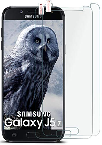 moex 2X 9H Panzerfolie für Samsung Galaxy J5 (2017) | Panzerglas Display Glasfolie [Tempered Glass] Screen Protector Glas Displayschutz-Folie für Samsung Galaxy J5 2017 Schutzfolie