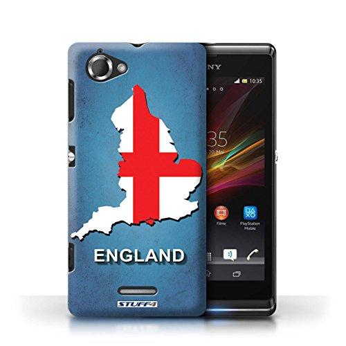 Kobalt® Imprimé Etui / Coque pour Sony Xperia L/C2105 / Suède/Suédois conception / Série Drapeau Pays Angleterre/Anglais