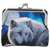Nemesis Coin Cash Money Purse Guardian of The North Wolf by Lisa Parker Gift