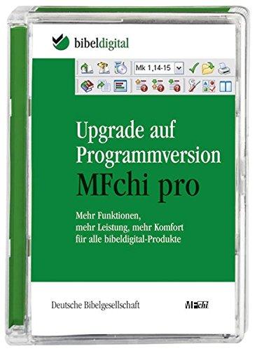 Upgrade auf Programmversion MFchi pro, 1 CD-ROM Mehr Funktionen, mehr Leistung, mehr Komfort für alle bibel-digital-Produkte. Für Windows ab 98