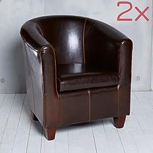 set 2 cocktailsessel sessel clubsessel loungesessel m bel b rosessel braun antik. Black Bedroom Furniture Sets. Home Design Ideas