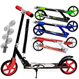 KESSER® Scooter Roller Kinderroller Cityroller Tretroller Kickroller Kickscooter Design / Farbe: Panther (White)