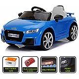Voiture de sport électrique 12V pour enfant Audi TT RS Cristom® -Télécommande 2.4Ghz- Slot USB et prise MP3 - Licence Audi