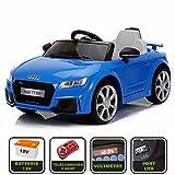 Cristom  Voiture de Sport électrique 12V pour Enfant Audi TT RS Télécommande 2.4Ghz- Slot USB et Prise MP3 - Licence Audi (Rouge)