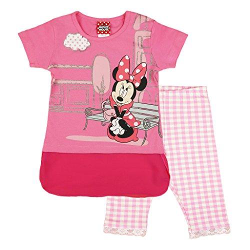 cf226cf016 Minnie Mouse 2-teiliges Mädchen Sommer-Set, T-Shirt KURZÄRMLIG mit Hose