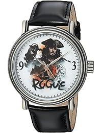 Disney Men's 'Pirates' Quartz Metal Casual Watch, Color:Black (Model: WDS000370)