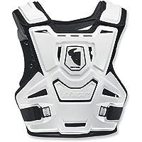 Thor Sentinel Motocross Brustpanzer Offroad Enduro Cross Quad Schwarz Weiss (Weiss)