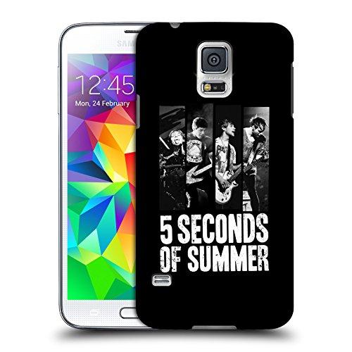 Ufficiale 5 Seconds Of Summer Strisce Poster Cover Retro Rigida per Samsung Galaxy S5 / S5 Neo