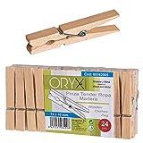 Oryx 5162005 - Pinzas para tender ropa, madera, 24 piezas