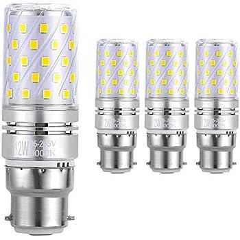 Hzsane B22 LED maíz bombilla, 12W, 3000K Blanco Cálido LED Bombillas, 100W Incandescente Bombillas Equivalentes, 1200lm, B22 Bayonet Cap Bombillas LED, ...