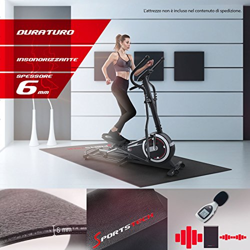 Zoom IMG-1 sportstech tappetino protettivo pavimento 4