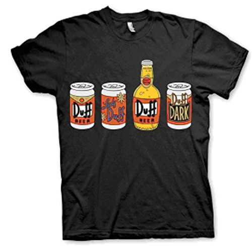 The Simpsons Duff Bottles T-shirt Small