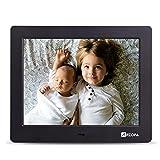 Arzopa 8 pouces HD Cadre photo numérique 1024x768(4:3) Horloge Réveil MP3 MP4 Films Calendrier électronique avec télécommande