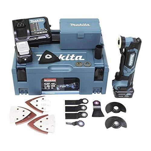 Makita TM30DSMJX5 Akku-Multifunktionswerkzeug 10,8 V / 4,0Ah, 2 Akkus, Ladegerät, MAKPAC inklusiv 41tlg. Zubehör-Set, 170 W, 10.8 V, türkisschwarz, mit 2X 4,0 Ah inkl. Sortiment Einsatzwerkzeuge