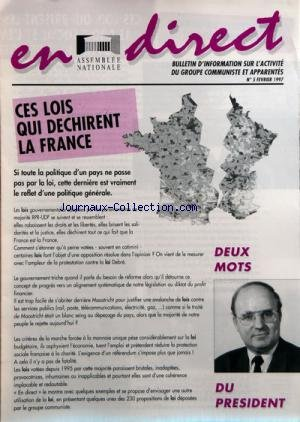 EN DIRECT ASSEMBLEE NATIONALE [No 5] du 01/02/1997