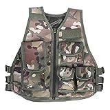 Tbest Gilet Protettivo da Gioco,Molle Combat Vest Tattico Gilet Airsoft Militare Tattico Gilet Army Fans Gilet per Giochi all'aperto.(Colore Mimetico-S)