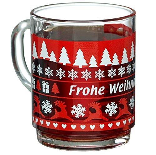 24x1 Bock 0,2l geeicht Teeglas gehärtetes Glas stapelbar Glühweingläser Glühweinbecher