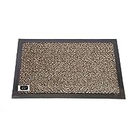 EHC Small Rubber Backed Dirt Barrier Mat, Blue/Black