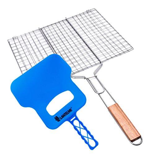 Lantelme, barbecue e grill Wedel im Set–Grill Griglia apribile e grill stare plastica colore blu